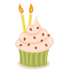 Birthday Cupcake vector image