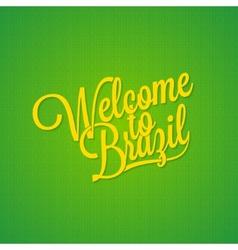 Brazil vintage lettering background vector