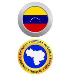 button as a symbol VENEZUELA vector image vector image