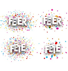 Celebration paper banners vector