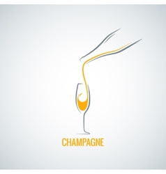 Champagne glass bottle background vector