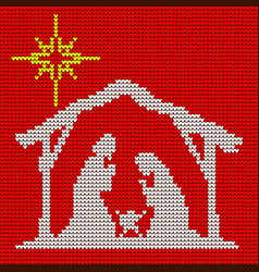 Christmas scene of the birth of jesus vector