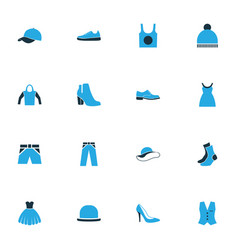 Clothes colorful icons set collection of shorts vector