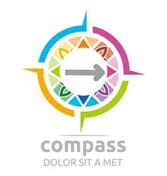 Design icon compass direction place abstract vector