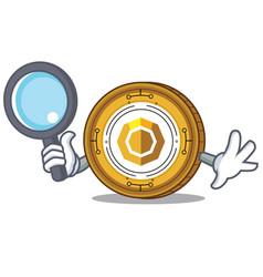 Detective komodo coin character cartoon vector