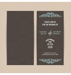 Double invitation card dark vector