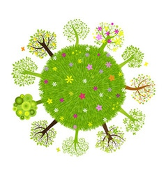 eco planet with tree vector image vector image
