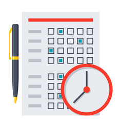 Exam or test icon vector