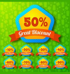 Great discount design concept vector