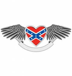 Heart with flag of confederacy vector