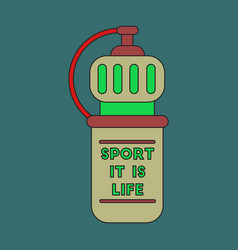 icon in flat design sports bottle vector image