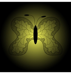 iron patterned silhouette of butterfly vector image vector image