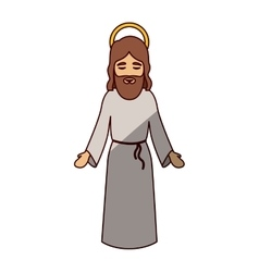 Jesus cartoon of holy night design vector