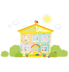 kindergarten with toys vector image vector image