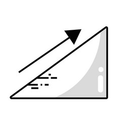 Line financial triangle with arrow up to business vector