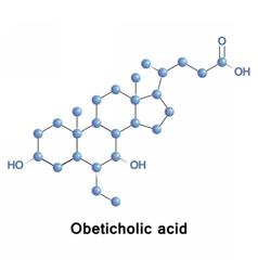 Obeticholic acid semi-synthetic vector image vector image