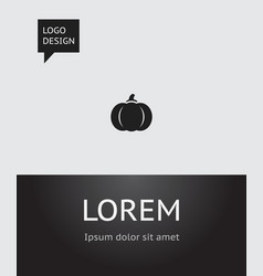 of gardening symbol on pumpkin vector image vector image