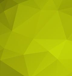 Poligonal green background vector image