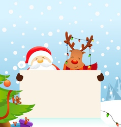 Reindeer santa message vector