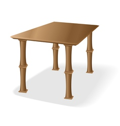 Retro old wooden table vector image vector image