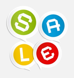 Sale Circle Colorful Stickers - Labels on Light vector image