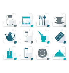 stylized restaurant cafe bar and night club icon vector image