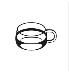 transparent cup icon in simple monochrome style vector image vector image