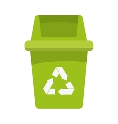 Trash recycle ecology protection design vector