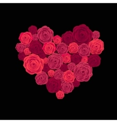 Rose heart isolated on white vector