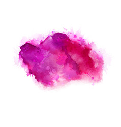 Geranium hot pink and magenta watercolor stains vector