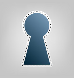 Keyhole sign   blue icon with vector