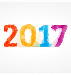 2017 abstract colorful low poly happy new year vector