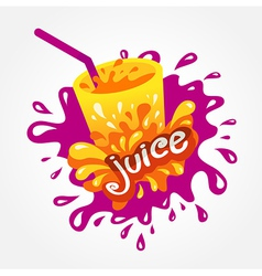 Juice drink beverage splash vector