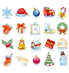 Set of Christmas symbols vector image