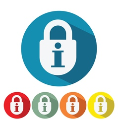 information security web icon flat design vector image