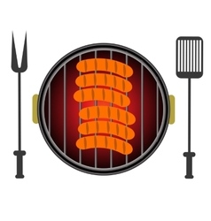 Grill icon isolated on white background vector