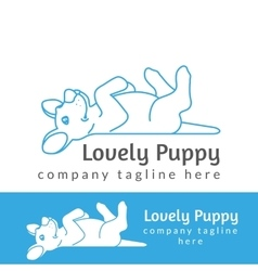 Lovely puppy vector