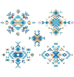 Colorful tribal design elements vector