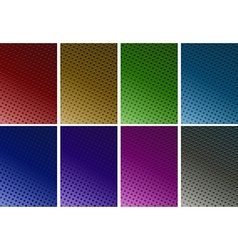 Background design with dots in six colors vector