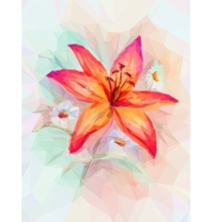 Floral pattern with lily vector