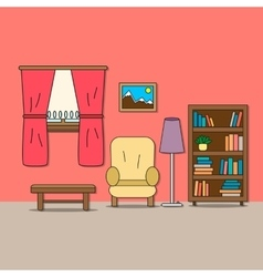Design of room - sitting room vector