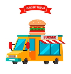 Burger truck food truck vector