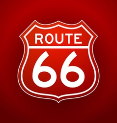 Red route 66 silhouette vector