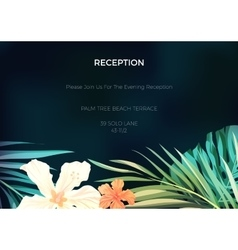 Wedding invitation or card design with exotic vector