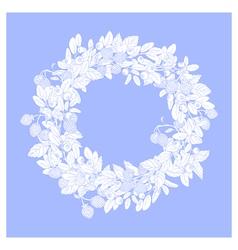 Blue wreath vector