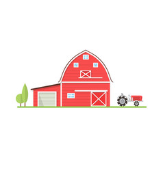 american farm icon in flat style vector image