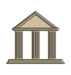 Ancient greek building icon image vector