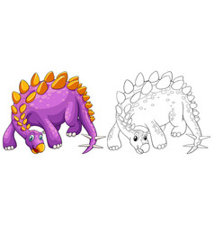 Animal outline for stegosaurus vector