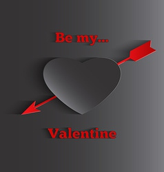 Be My Valentines text greeting cards with heart vector image