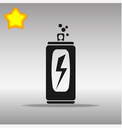 Black energy drink icon button logo symbol concept vector